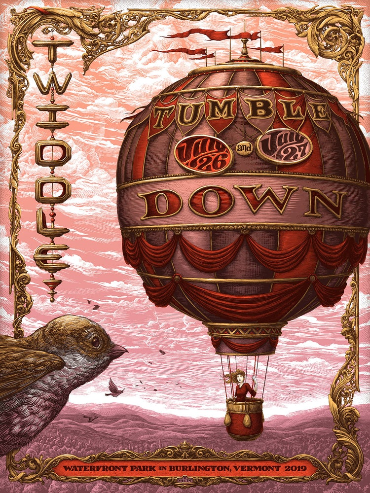 Image of Twiddle Tumbledown gig poster