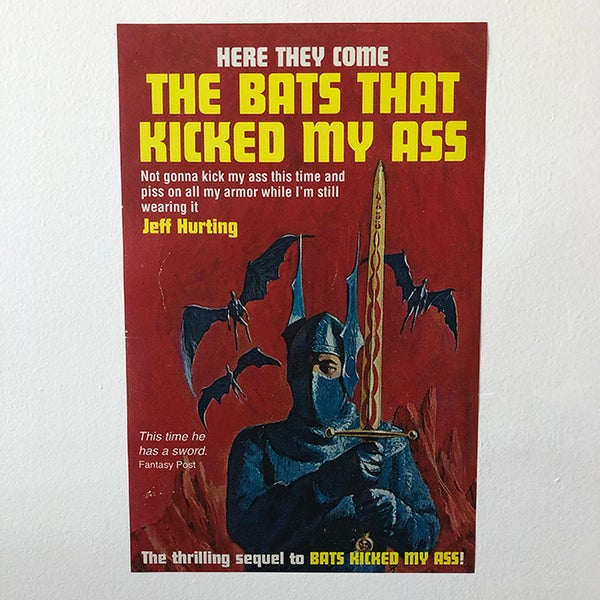 Image of Bats Kicked My Ass Poster - 11 x 17