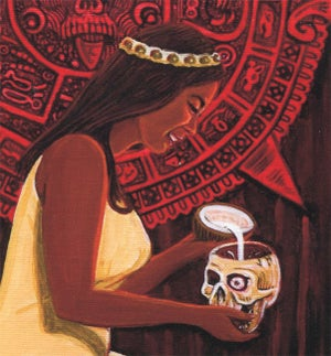 "Image of ""LENORE (Alas, Poor Cortes)"" signed gallery wrapped Giclee"