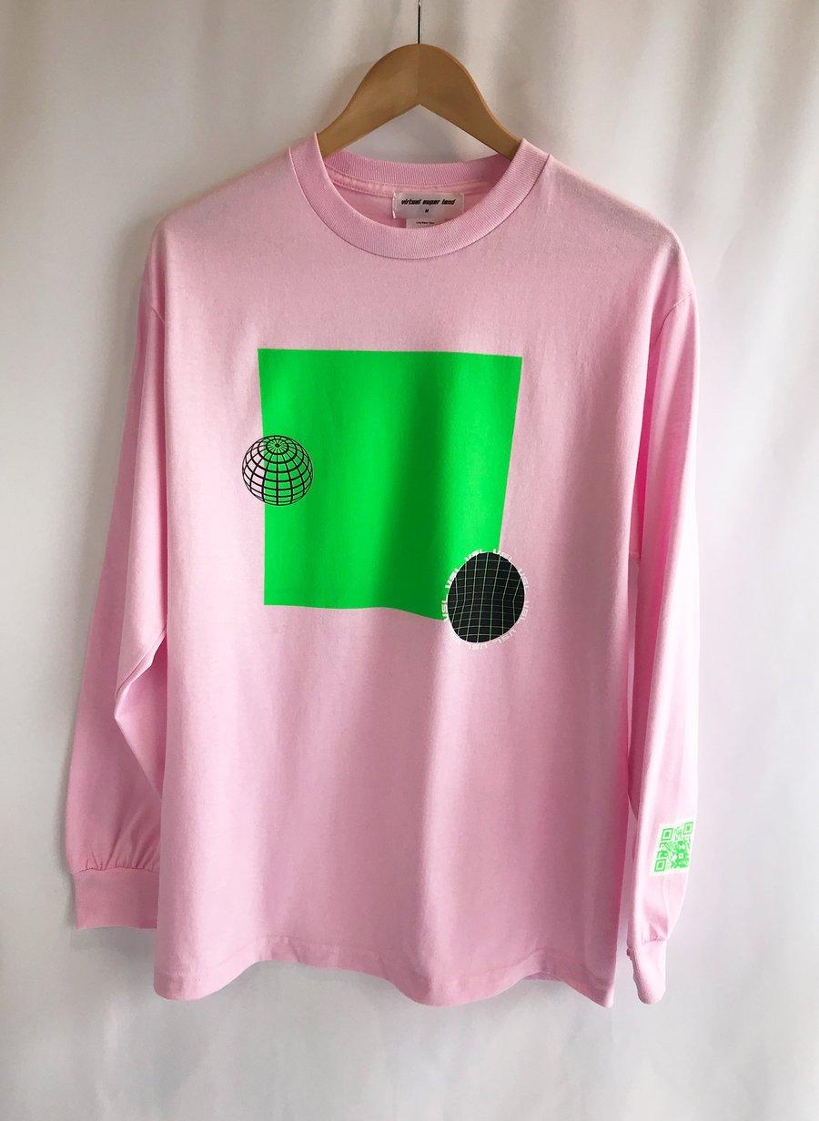 Image of 'Samira' Pink Long Sleeve T-Shirt