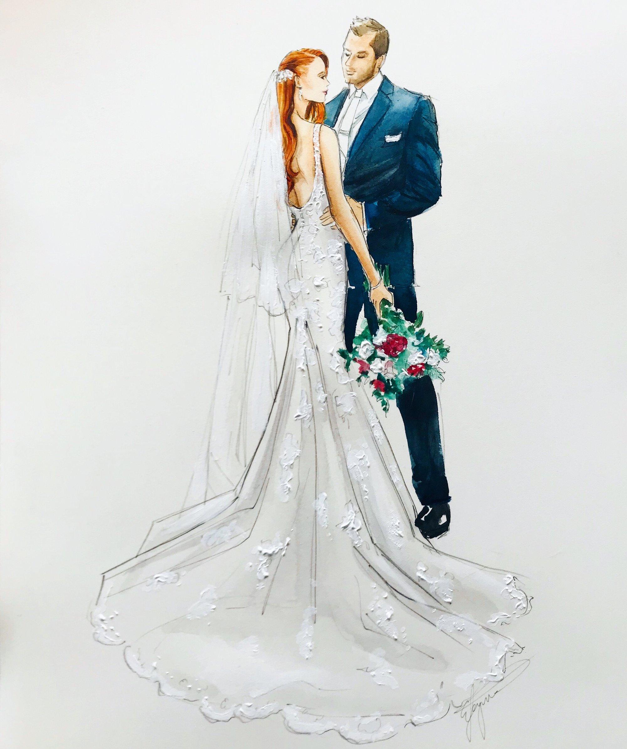 Image of Custom Bridal Illustration