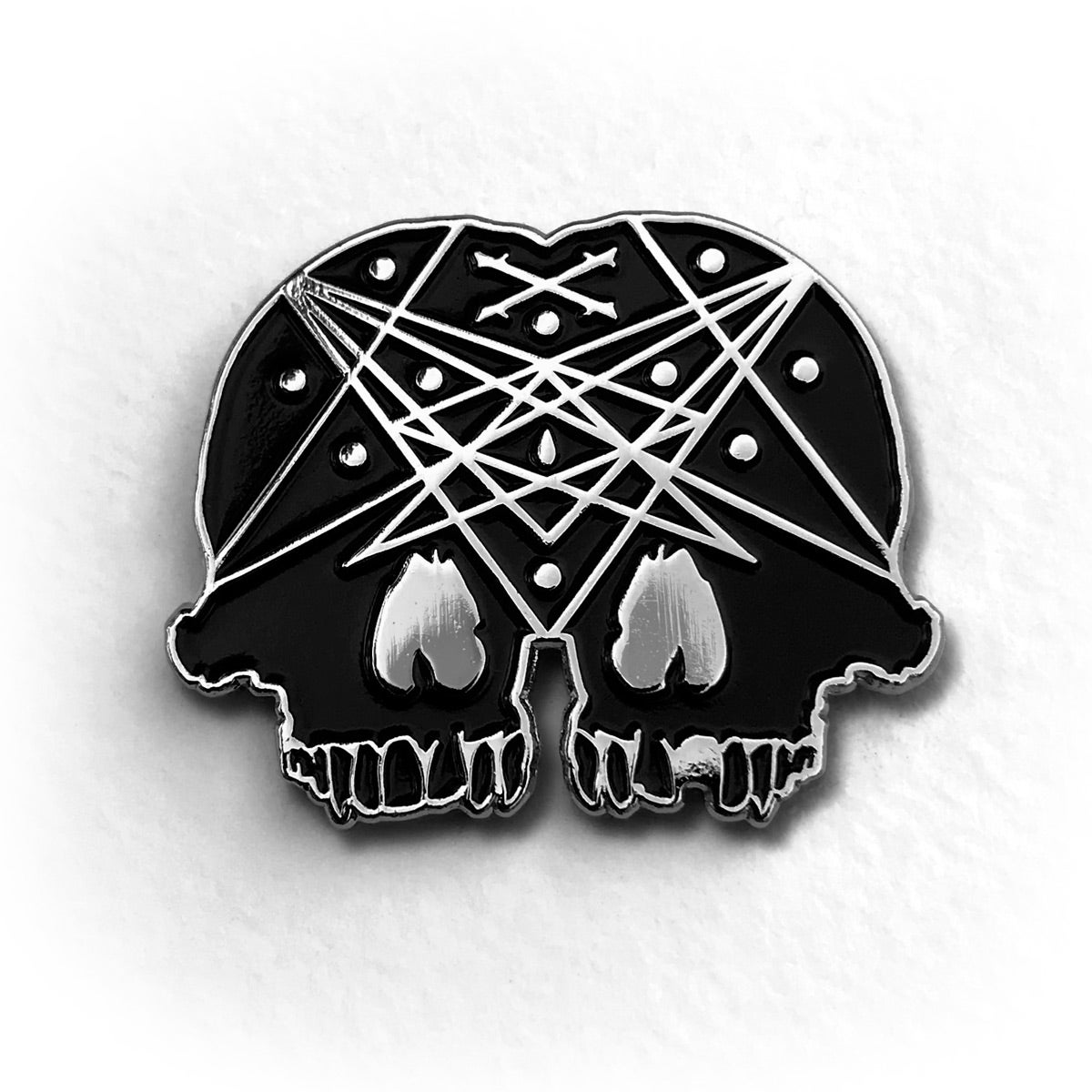 Image of Conjoined Skull Pin