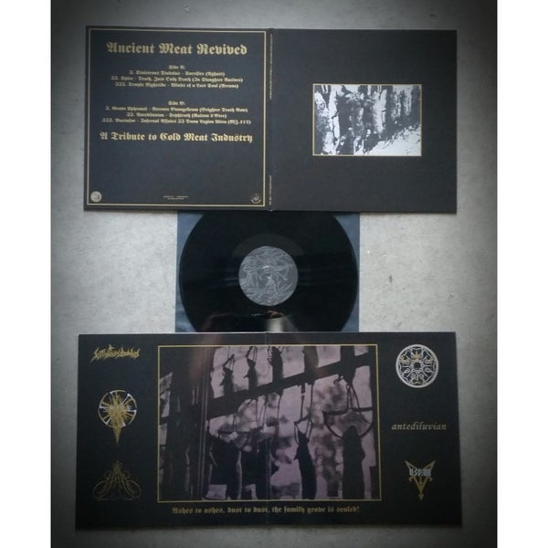 "Image of Ancient Meat Revived (VA) ""A Tribute To Cold Meat Industry"" Gatefold LP"