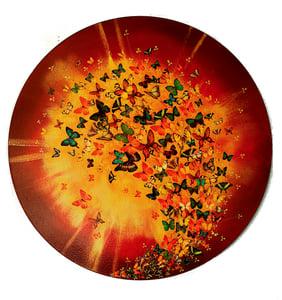 """Image of Original Canvas - Sunburst - 31.5"""" diameter"""