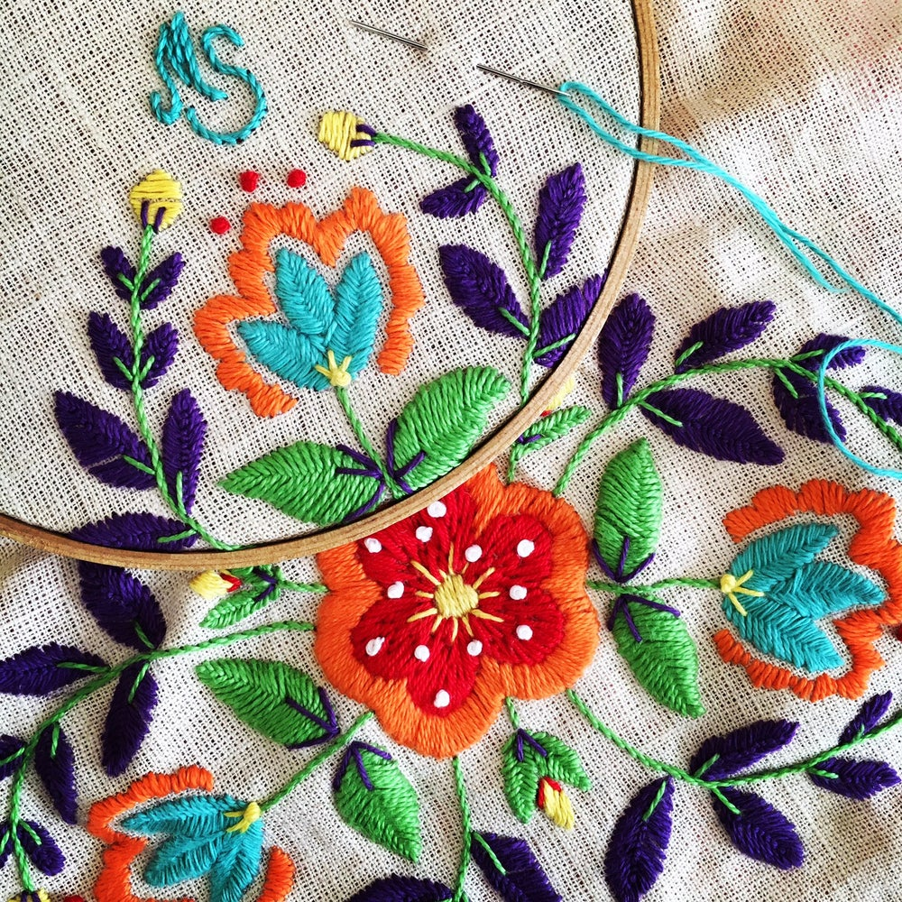 Image of Polish Embroidery with Kasia Jaquot  Monday August 26th 10am - 4pm