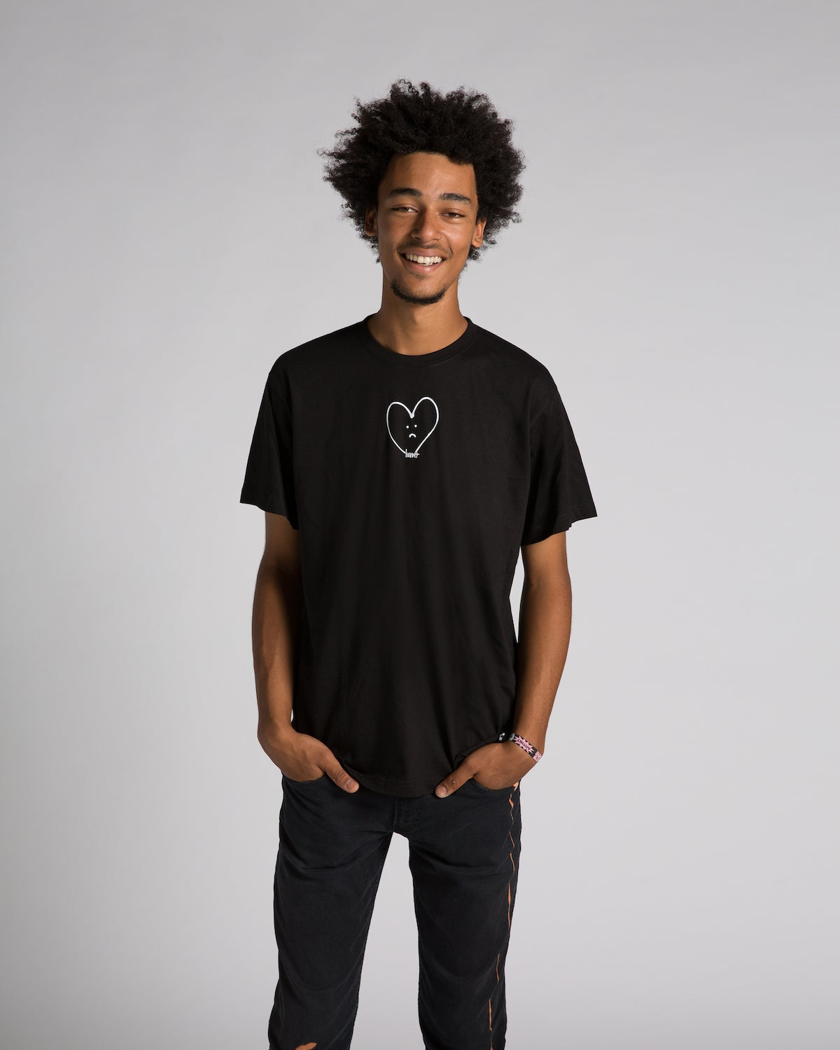 Image of 'SAD HEART' BLACK T-SHIRT