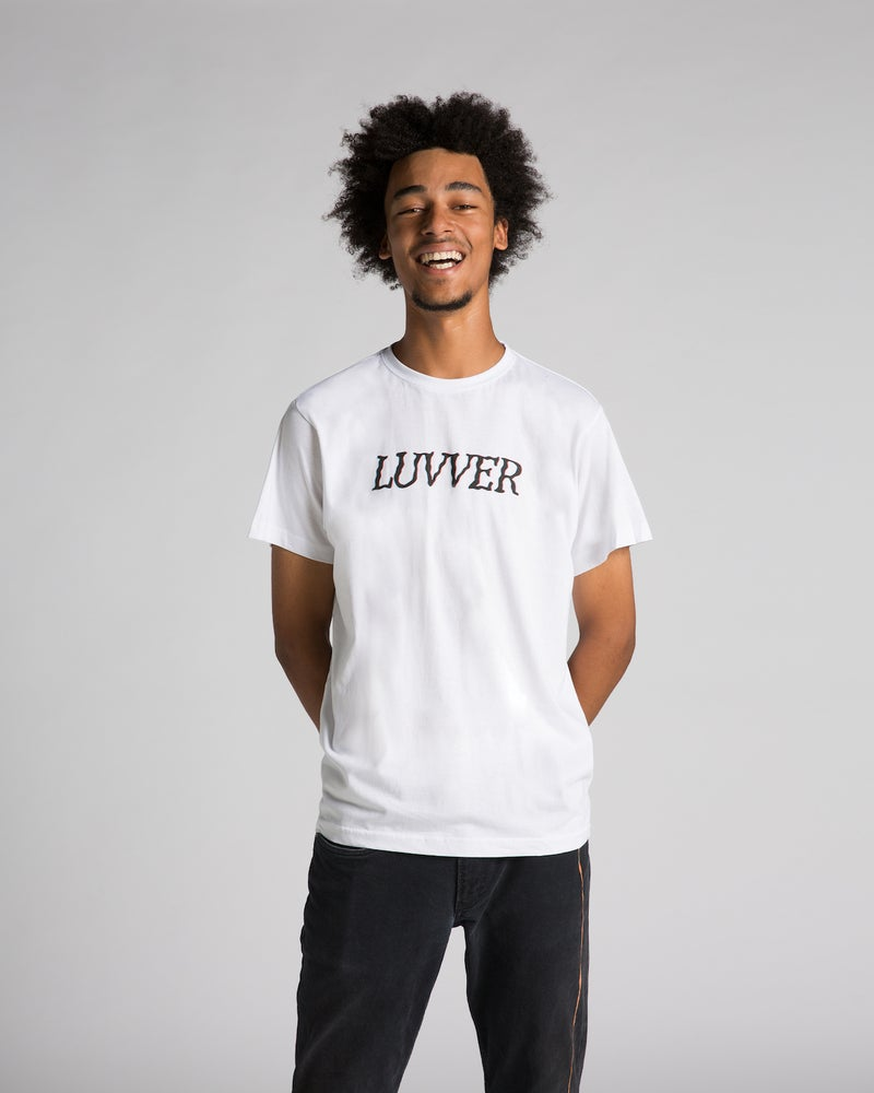 Image of 'LUVVER' WHITE T-SHIRT