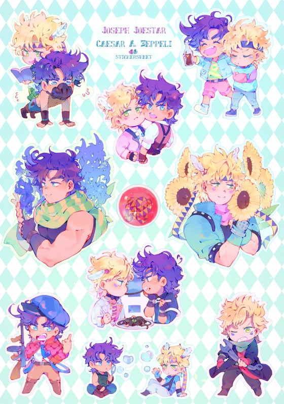Image of Joseph and Caesar stickersheet