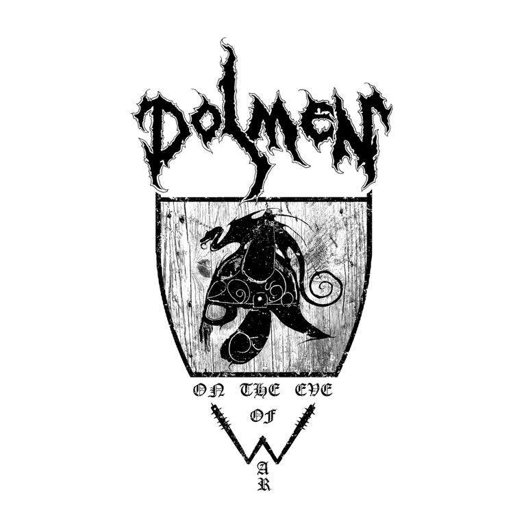Image of DOLMEN - ON THE EVE OF WAR SHIELD (BLACK PRINT)