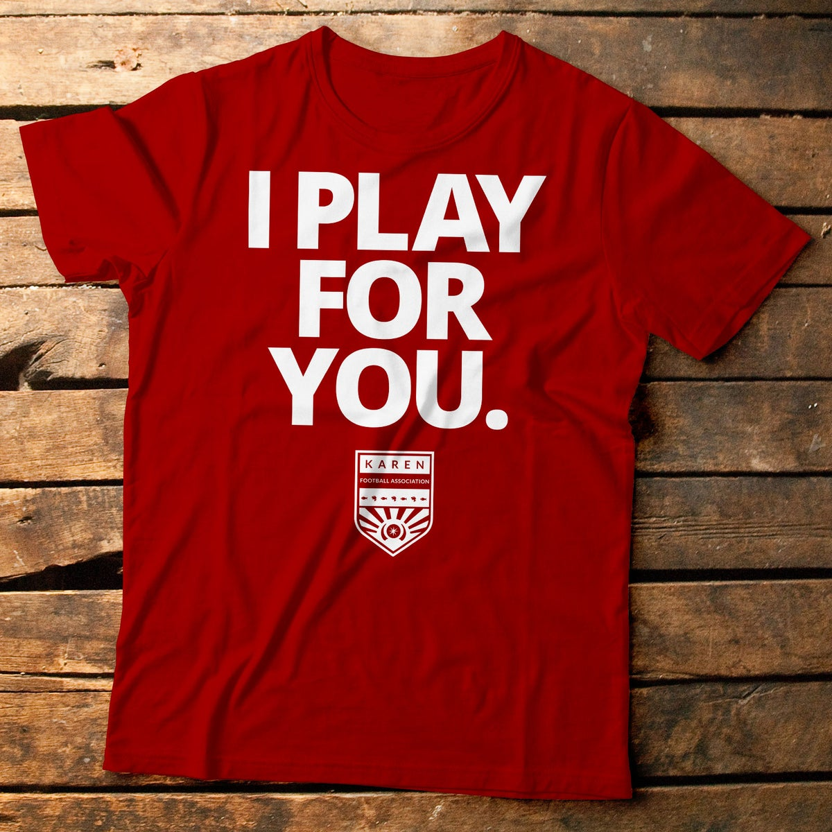 Image of I Play for You Red Tee
