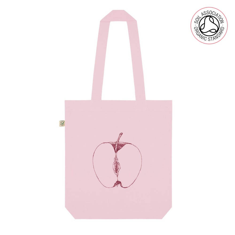 VajApple Pink Tote Shopping Bag (Organic)