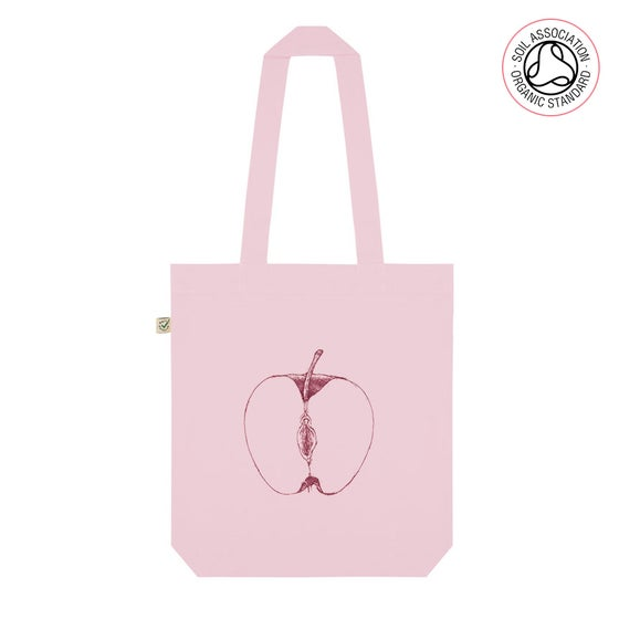 Image of VajApple Pink Tote Shopping Bag (Organic)
