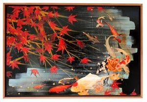 Image of Original Canvas - Koi Under Maple - 90cm x 60cm