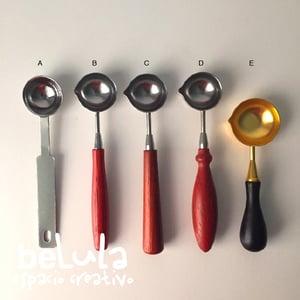 Image of Cucharas para lacre diferentes tamaños