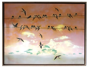 "Image of Original Canvas - Swallows at Dawn - 30"" x 40"""