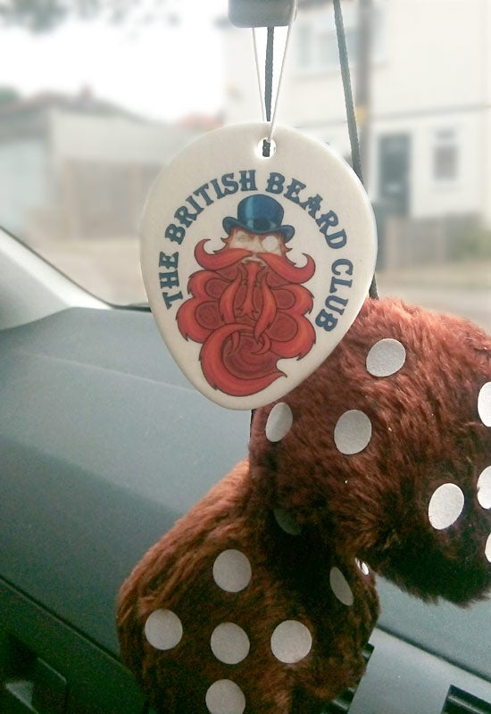 Image of The British Beard Club Car Air Freshener