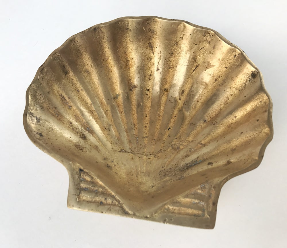 Image of Brass Shell Dish #103