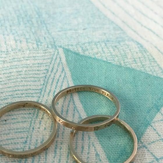 Image of Custom closed 14k gold ring