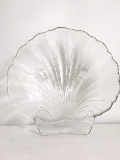 Image of Large Glass Shell Dish #101