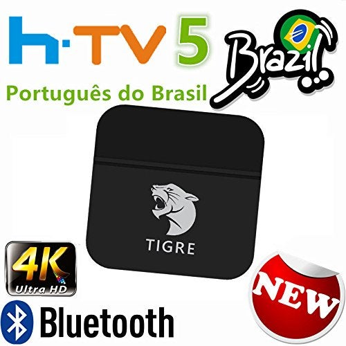 Image of BRAZIL TV BOX TIGRE Edition 4K, has almost 200 TV channels, many of them in HD