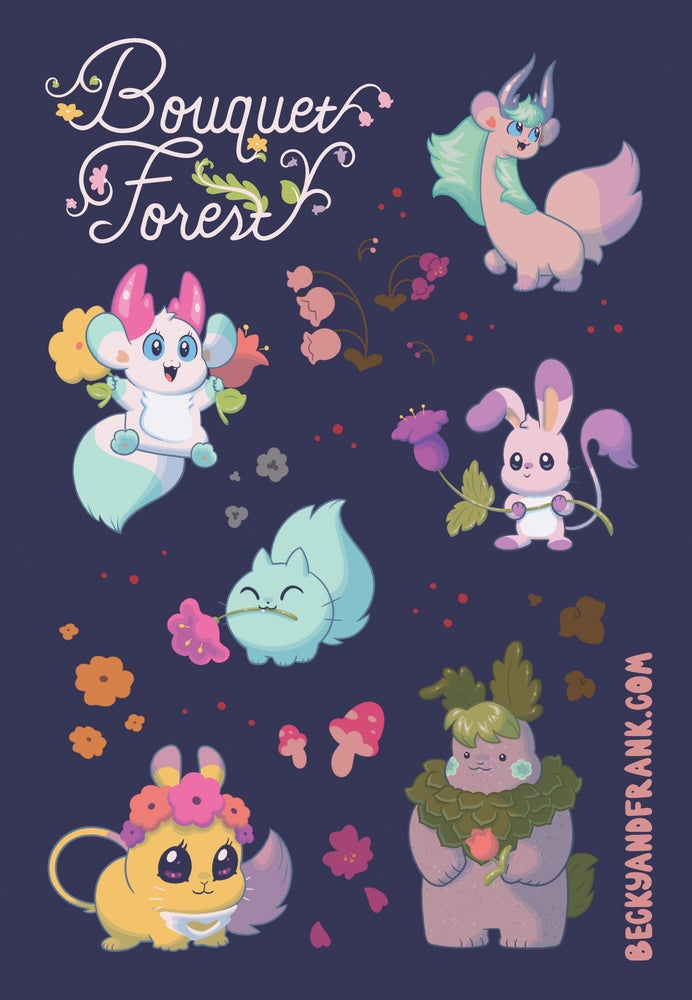 Image of Bouquet Forest Sticker Sheet