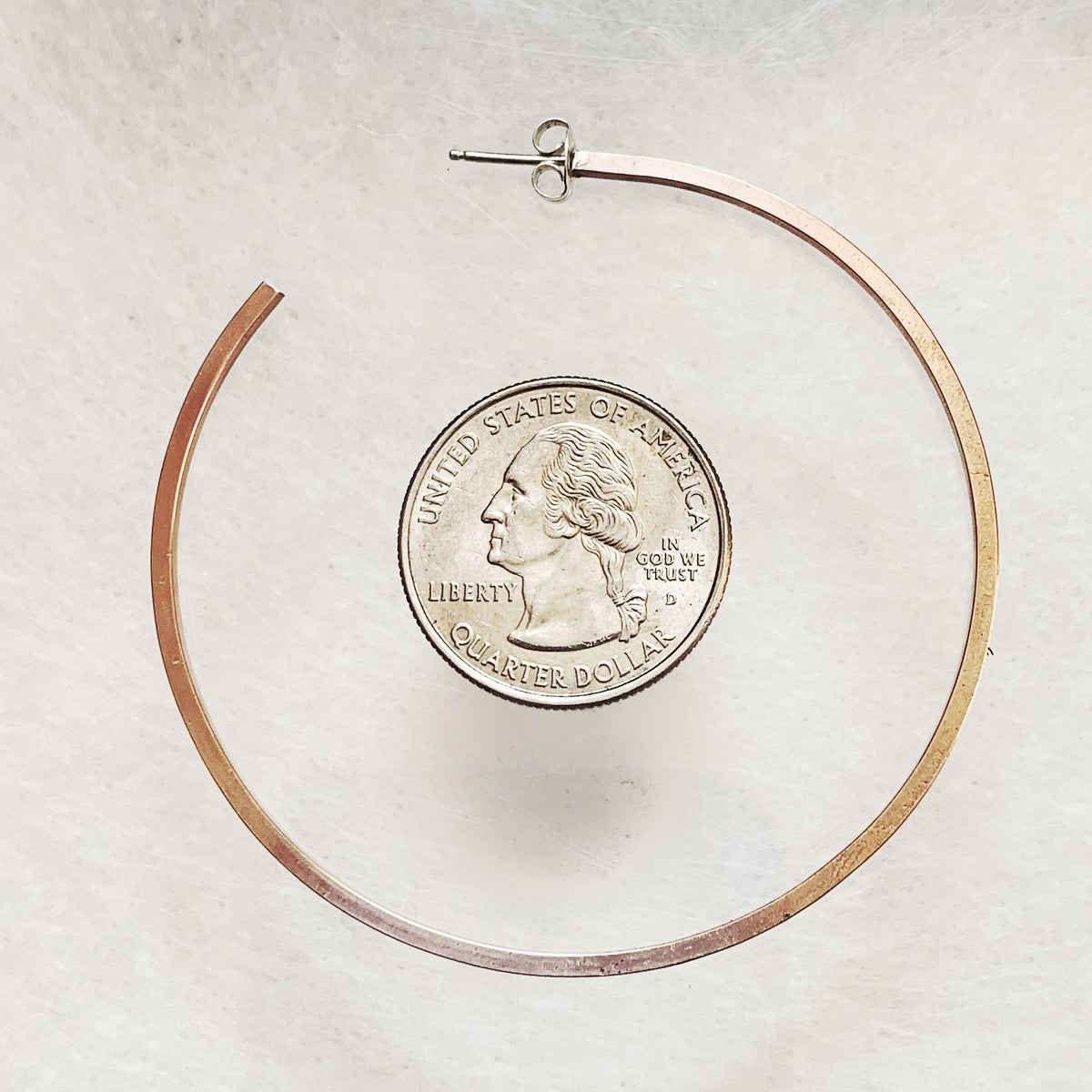 Image of Round Copper Hoops