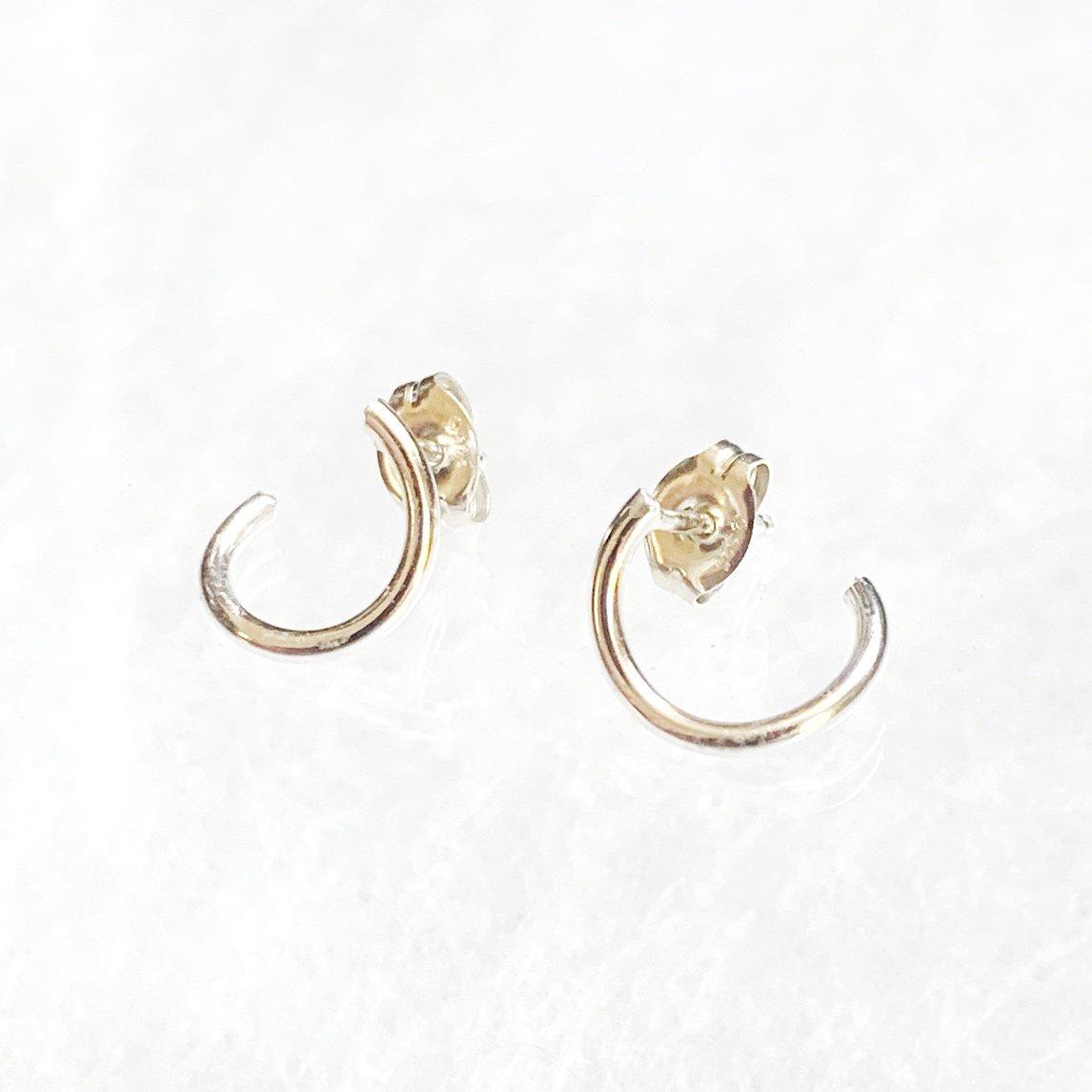 Image of Crescent Ear Huggers