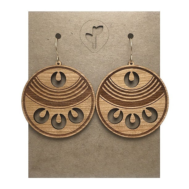 Image of chimalli III / earrings / cherry