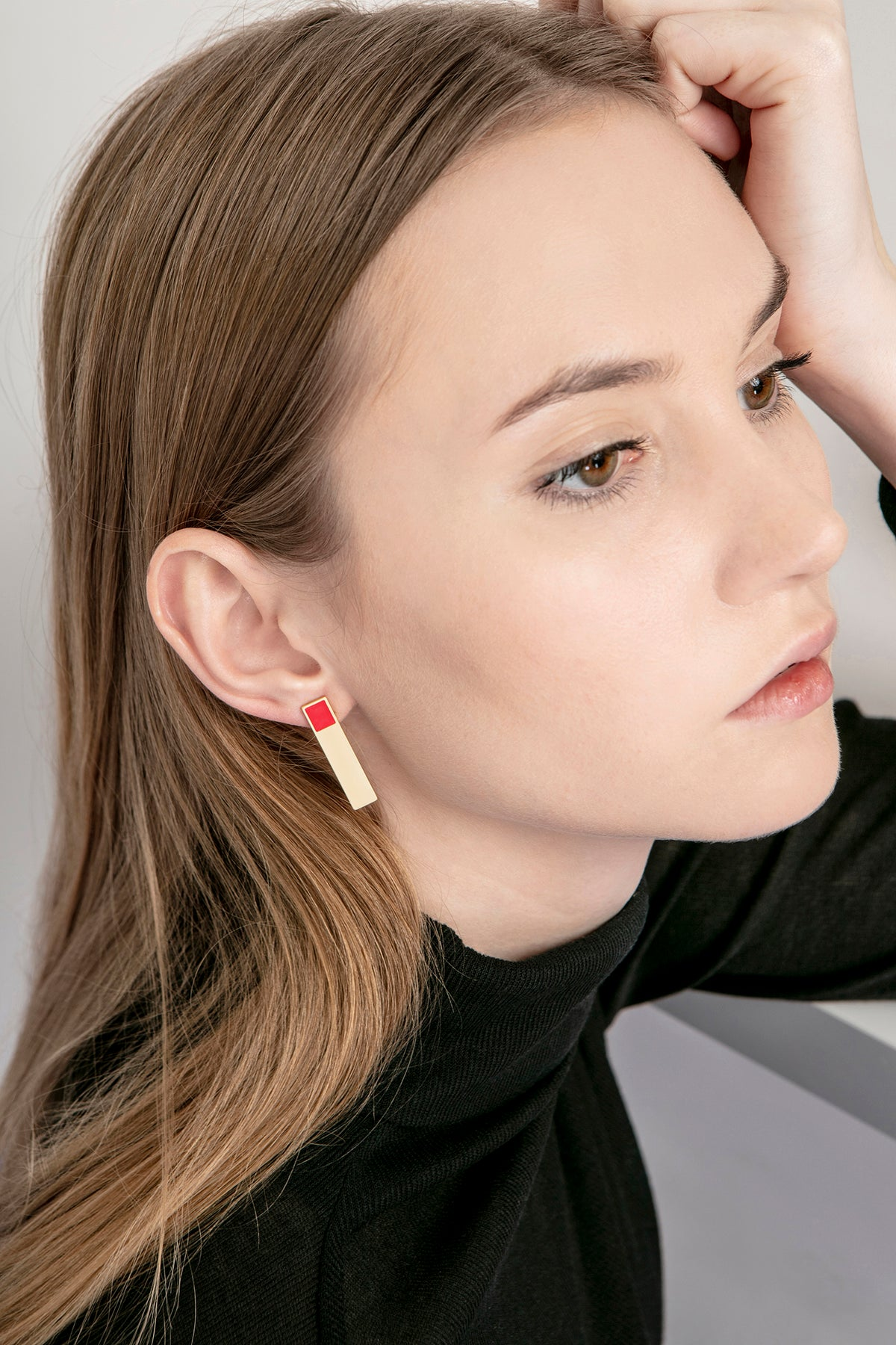 Image of Etto Earrings • Stainless steel • Silver