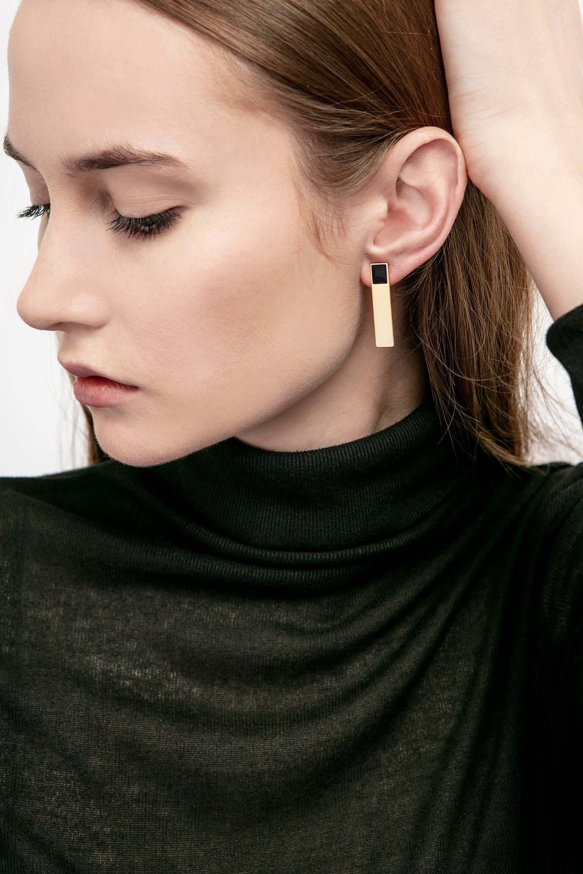 Image of Etto Earrings • Stainless steel • Silver • Black + Yellow