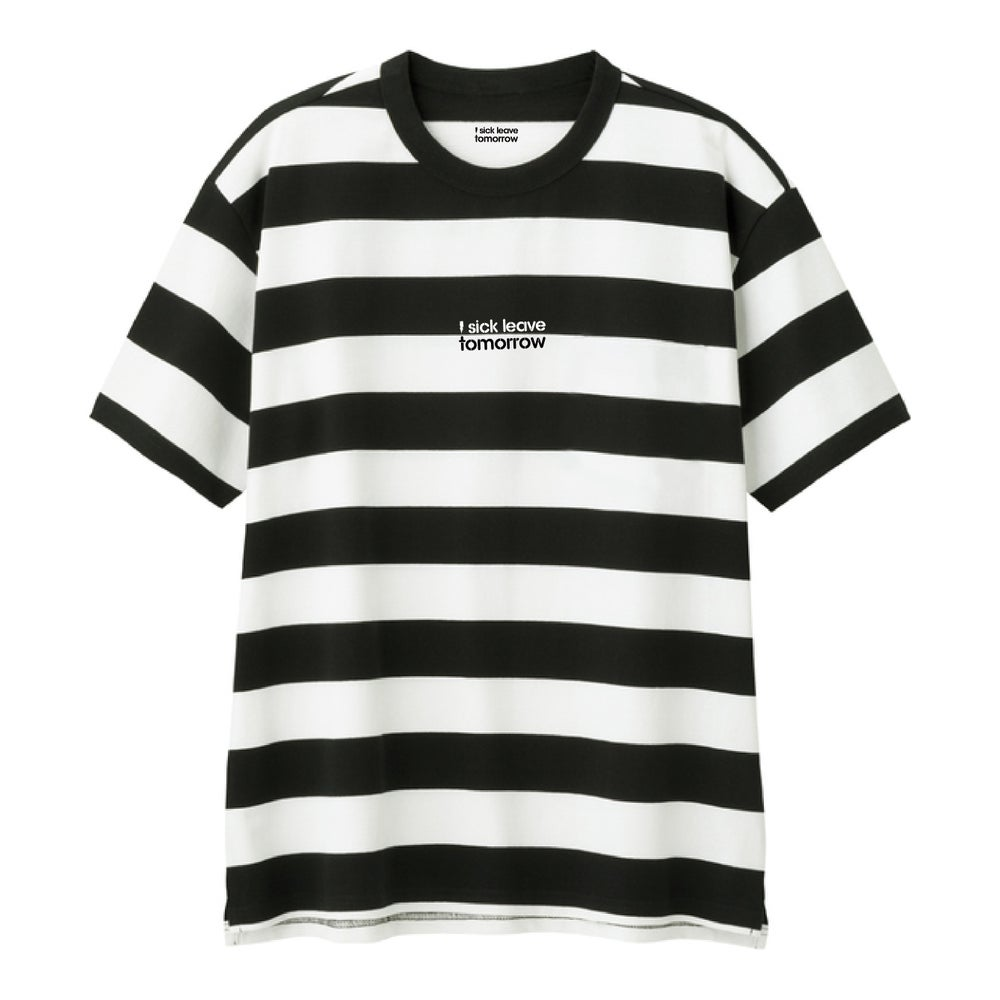 Image of ISLT Black and White Strip Tee