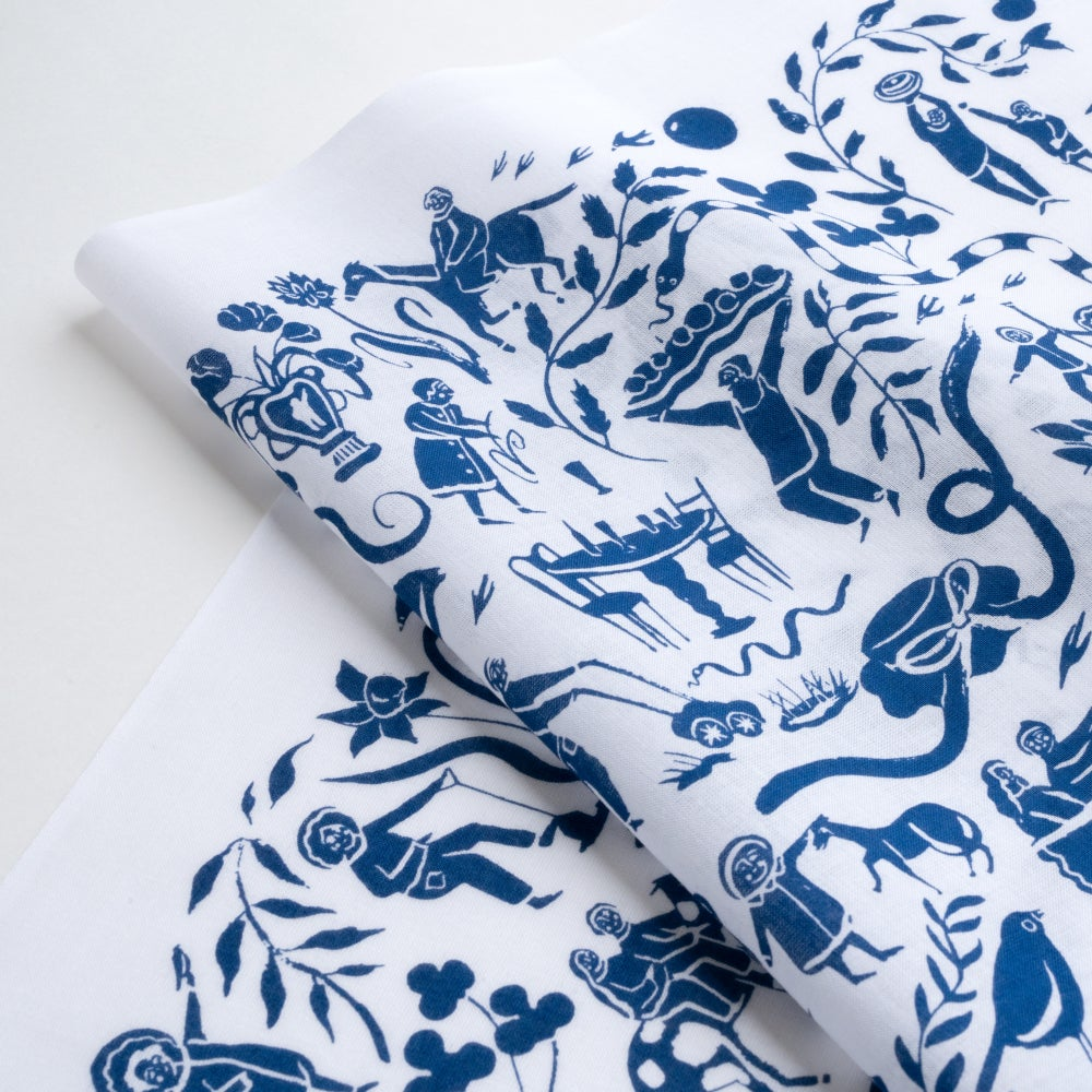 Image of Cotton Printed Japanese Tenugui