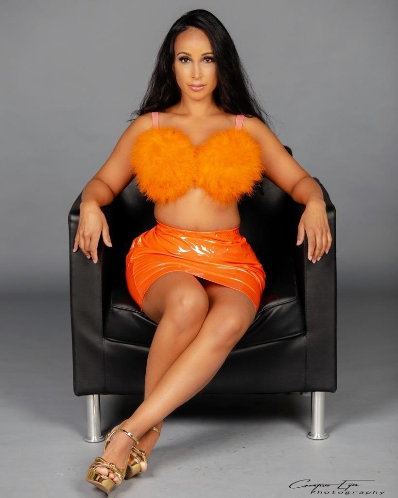 """Image of """" Orange Juice"""" Faux Fur Bra"""