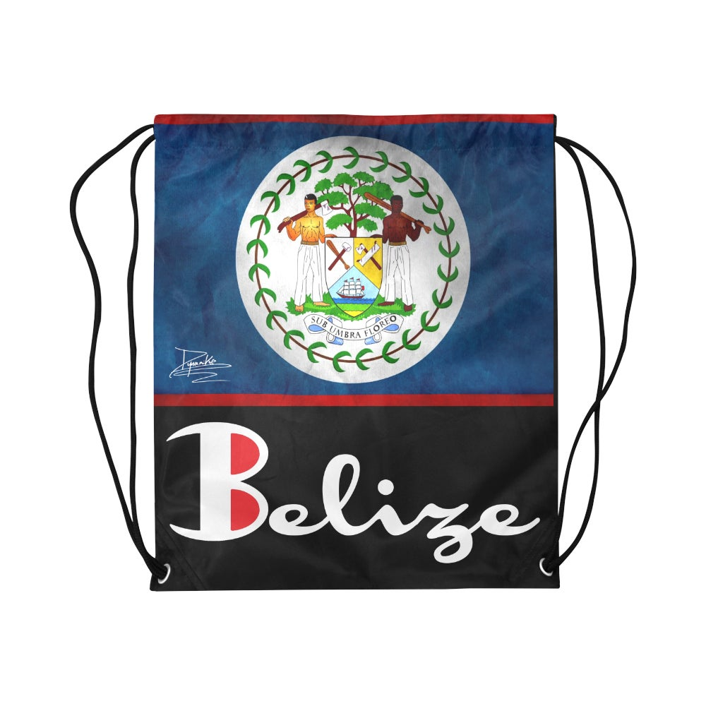 "Image of BELIZE - Medium Drawstring Bag 13.8""(W) * 18.1""(H)"