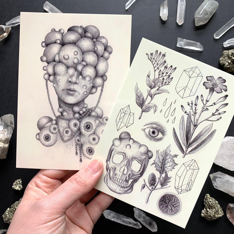 Image of Sketchbook Postcard Print Set