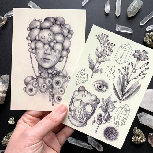 Image of Sketchbook Postcard Print Set