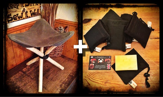 Image of Canvas Tripod Seat & Wax Combo