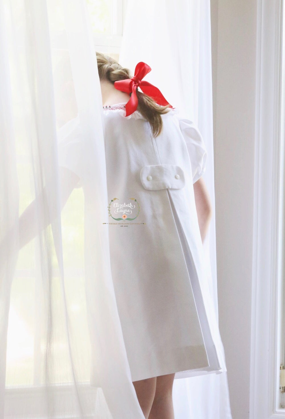 Image of 2T dress/bubble Ready-To-Ship 'Vivi' Cross Over A-Line Holiday Dress