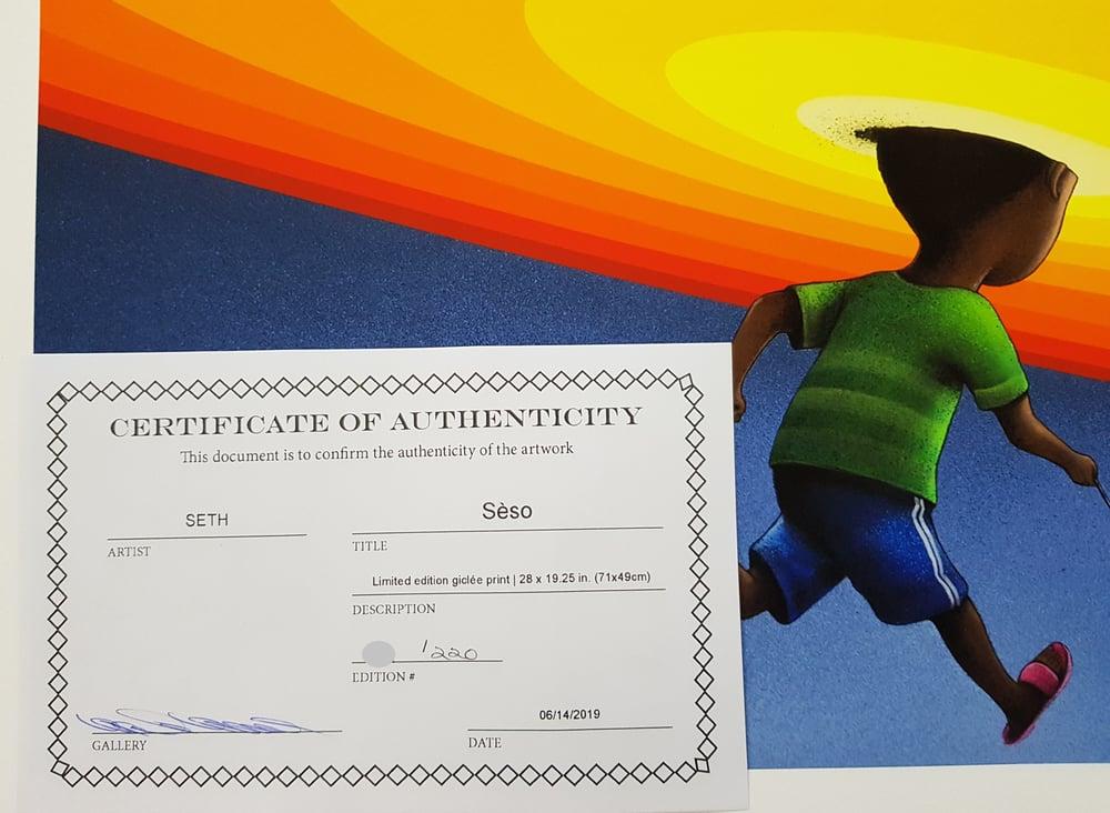 "Image of SETH ""SESO"" (THE HOOP) - LTD ED 220 - 71CM X 49CM"