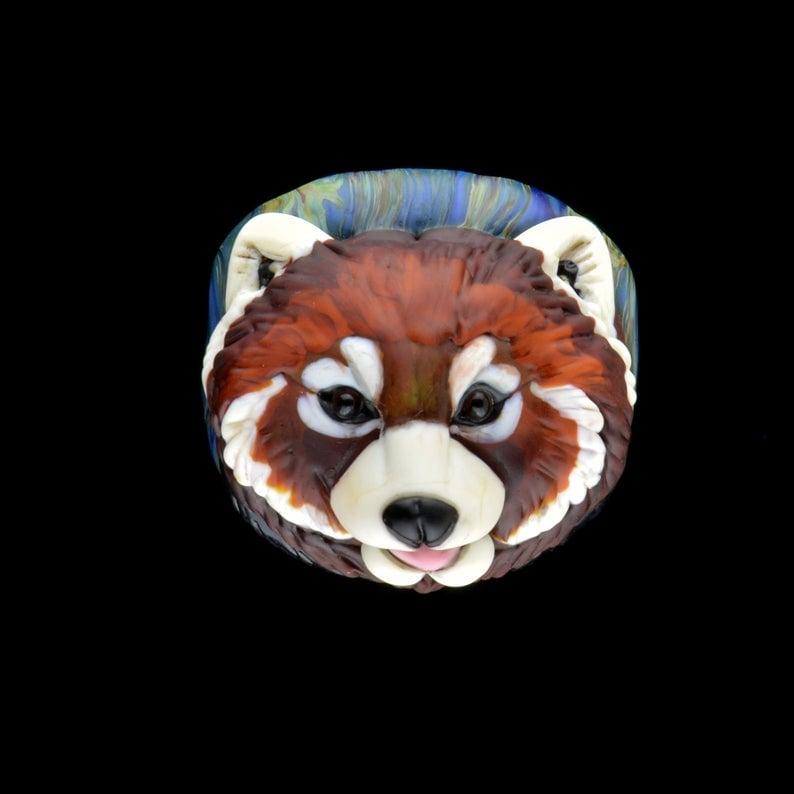 Image of LG. Red Panda - Flamework Glass Sculpture Bead