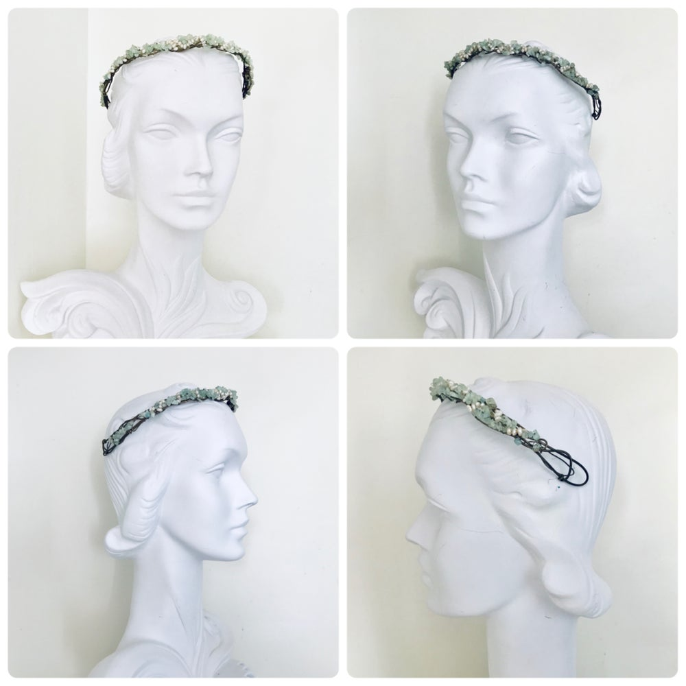 Image of Vintage Bridal Pearl & Crystal Crown