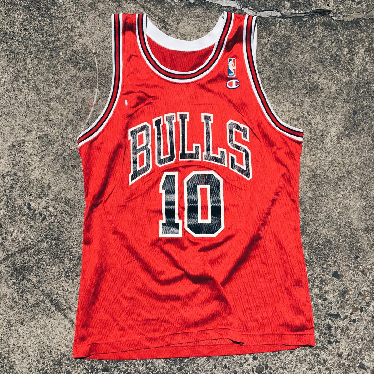 Image of Original Early 90's Champion Bulls B.J. Armstrong Jersey.