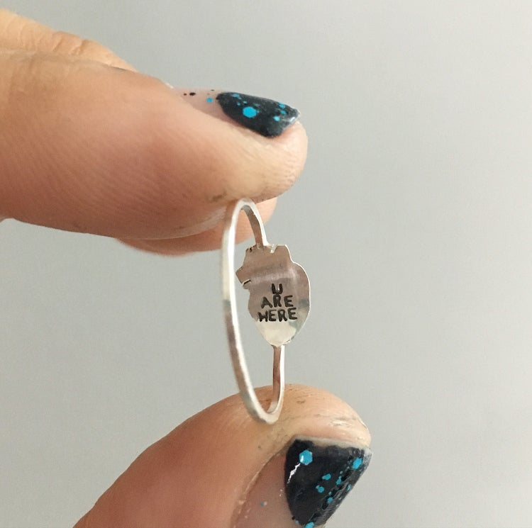 Image of dainty anatomical heart ring