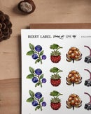 Image of BERRY LABEL SET NO2 - FOREST BERRIES
