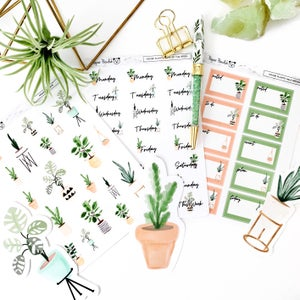 Image of House Plant Sticker Collection