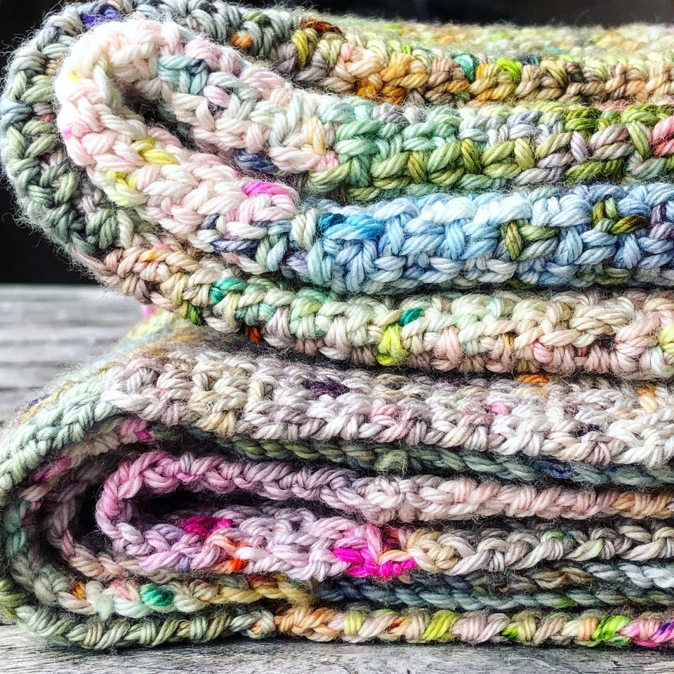 Image of Crochet the 'Speckled Squares Blanket' with Jacqui from Soul Yarn Saturday August 31st 1-4pm
