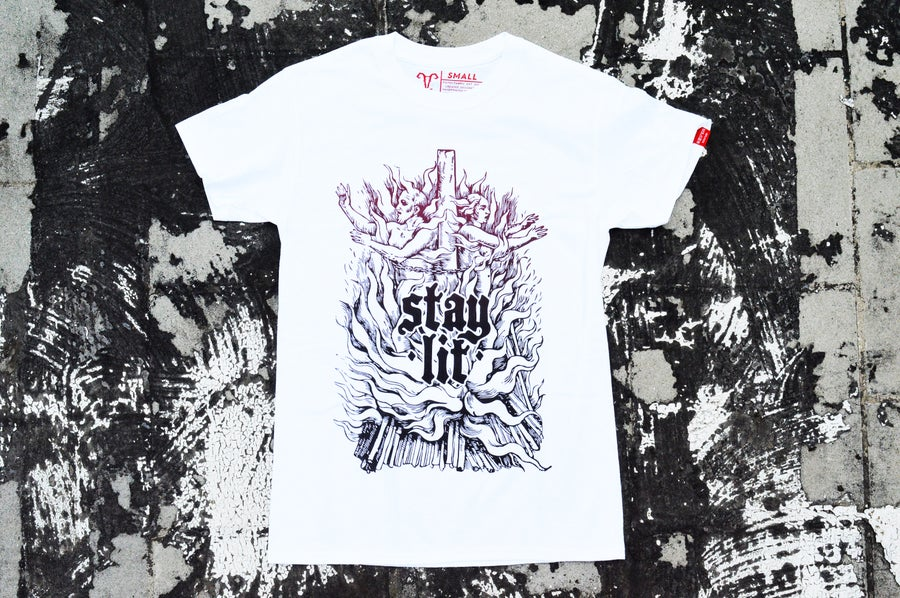 """Image of """"Stay Lit"""" White T-Shirt"""