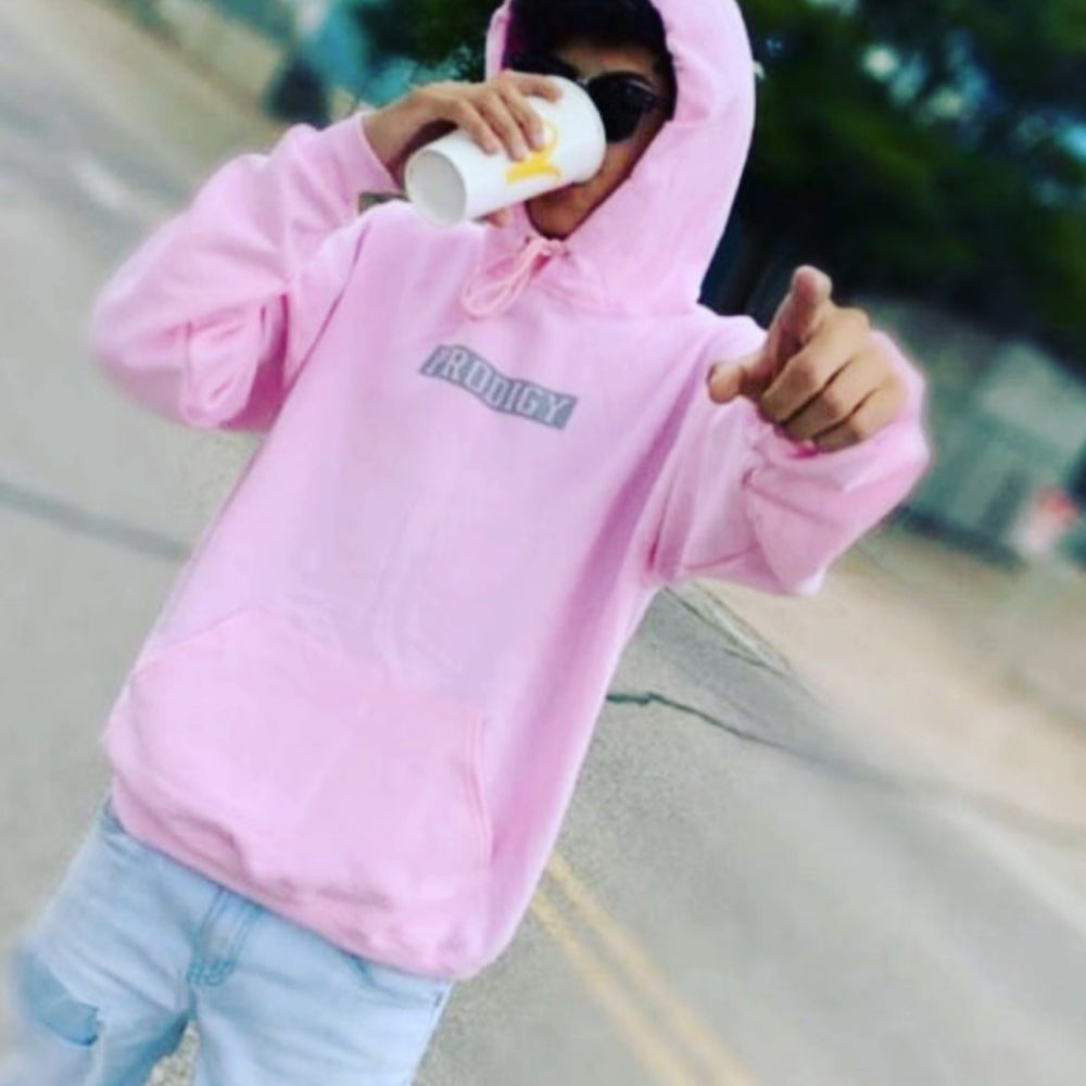 NEW BRAND PRODIGY PINK SILVER HOODIE