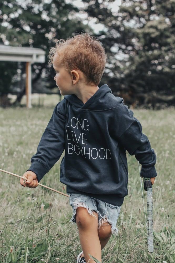 Image of LONG LIVE BOYHOOD SWEATSHIRT (NAVY)