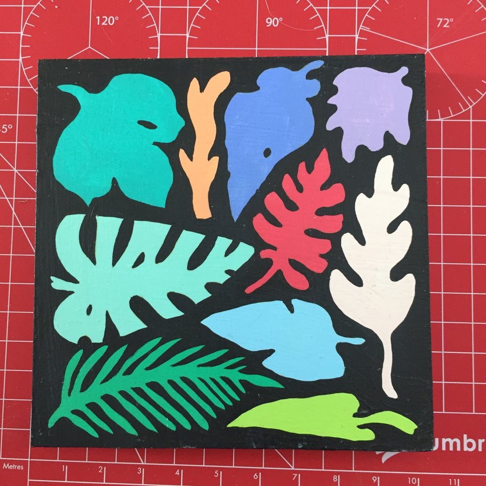 Image of Colored Leaves 1 Painting